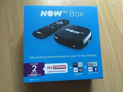 NOW TV Box with 2 Months Sky Cinema Pass - Brand New & Sealed - REDUCED PRICE!