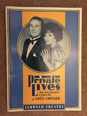 ALDWYCH THEATRE: JOAN COLLINS - KEITH BAXTER - EDWARD DUKE in PRIVATE LIVES