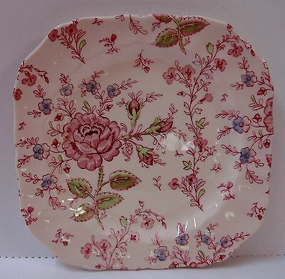 Johnson Brothers ROSE CHINTZ Square Salad Plate MADE ENGLAND More Item Available