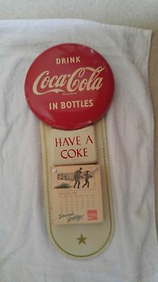 Coca-Cola 1956 Button Calendar Coke