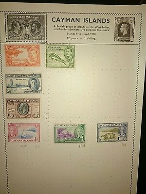 Cayman Islands Used Stamps x7 1930's - 1950's