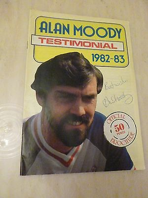 1982 Alan Moody Testimonial Programme:Southend United - Signed by Moody