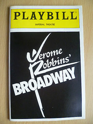 PLAYBILL IMPERIAL THEATRE PROGRAMME 1990- JEROME ROBBINS' BROADWAY by J Robbins