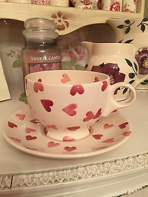 Emma Bridgewater Pink Hearts Large Cup And Saucer.