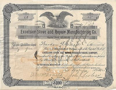 Stk-Excelsior Stove & (Repair) Manufactruing Co. 1921 Quincy, IL #68  Info #3