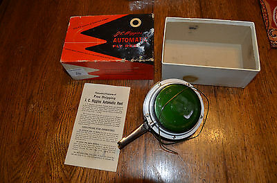 J.C. Higgins Automatic Fly Reel with Box and Instructions Vintage