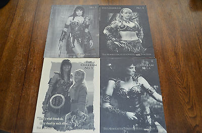Chakram The Newsletter of the Official Xena Fan Club -  No. 1, 2, 3 and 4 RARE!!