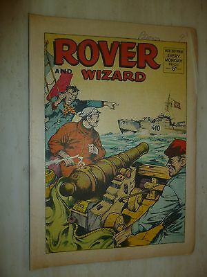 Comic- THE ROVER and WIZARD - 30th March 1968