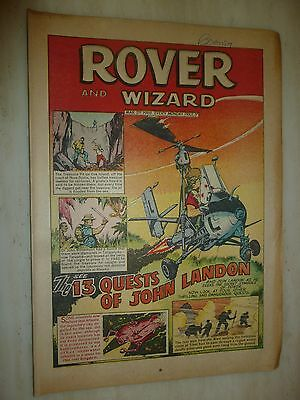 Comic- THE ROVER and WIZARD - 2nd March 1968