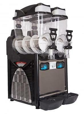 "Italian Double Bowl Slush Drinks Machine""  New Machine 2x10 L"