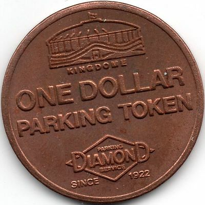 DIAMOND <> SEATTLE <> KING DOME *** $1.00 *** PARKING *** 27mm *** Copper ***