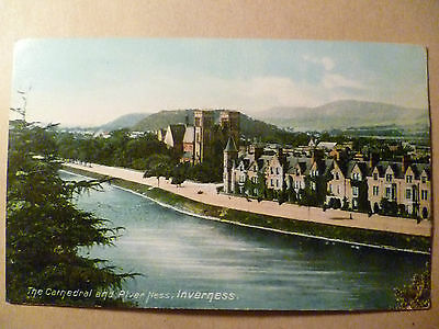 Postcard- THE CATHEDRAL AND RIVER NESS, INVERNESS,  Scotland > Inverness-shire