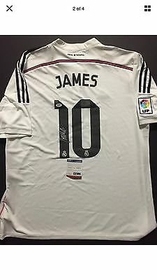 45c2fc60e JAMES RODRIGUEZ MLS Real Madrid Autographed White Jersey -  399.99 ...