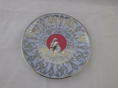Small Wedgwood Muse Plate Red Centre.