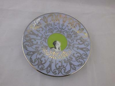 Small Wedgwood Muse Plate Green Centre.