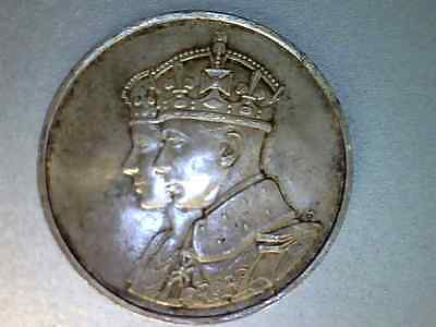 1939 King George  Royal Visit Canada Sterling Silver Coin Au