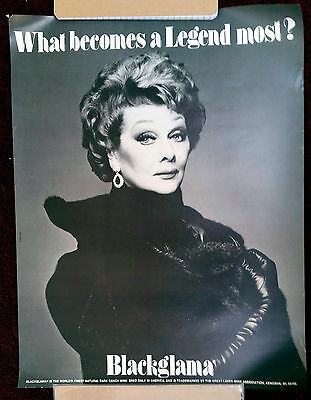 Vintage Lucille Ball Blackglama poster flawless condition 17X22