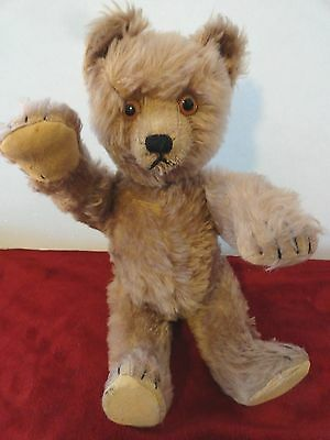 "Beautiful Antique 1930s 16"" Schuco Yes/No Teddy Bear--Works Great, Lovely Color!"