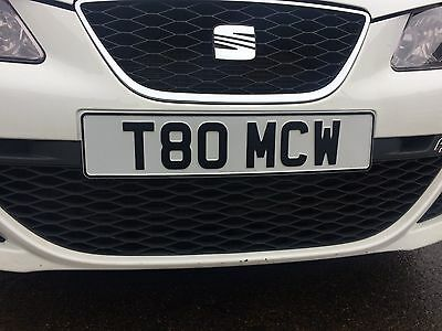 Cherised Private Number / Registration Plate - T80 MCW