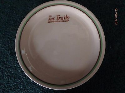 Old Advertising Restaurant Plate - The Trails - Walker China