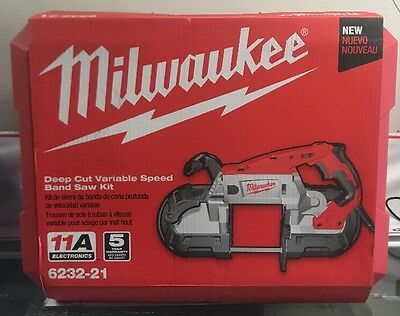NEW Milwaukee 6232-21 Deep Cut Variable Speed Band Saw with Case