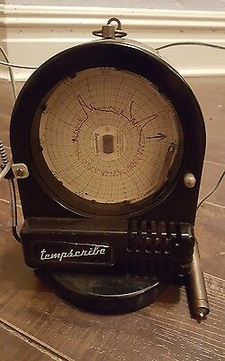 Bacharach Tempscribe Temperature Chart Recorder Vintage!