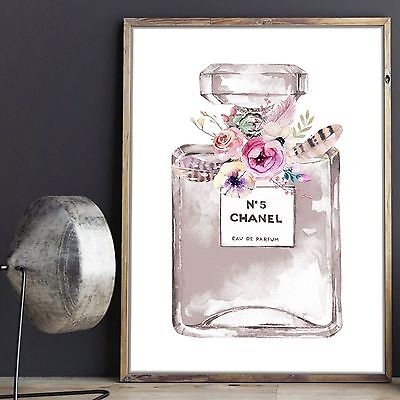 Girls, Teen, Tween Bedroom Decor Wall Art Print- Perfume Print