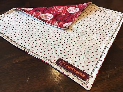 "Hand made Coke print handkerchief - Perfect every day carry (EDC) 10""x10"" Sale"