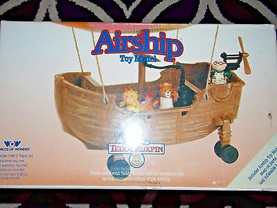 NEW !~Vintage~1984~1985~Worlds~of~Wonder~Ted~Teddy~Ruxpin~AIRSHIP~grubby~fig~lot