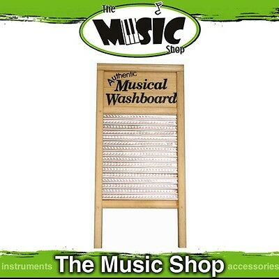 New Trophy Percussion Wood Framed Musical Washboard - ED851