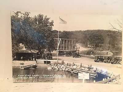 1920 RPPC Keshena Falls Wisconsin Jims Lodge Menominee Reservation Rtes 55 at 47