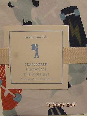 Pottery Barn Kids Skateboard Pattern Standard Pillow Sham..new