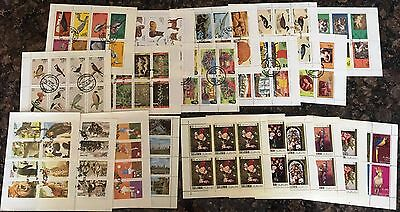 State of Oman - Collection of 20 Stamp Sheets both mint and used