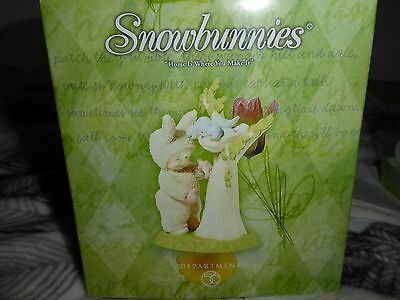 Dept 56 Springtime Snowbunnies  Home Is Where You Make It In Box