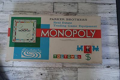 VINTAGE - Parkers Brothers Monopoly Set (I believe 1961) Free Postage