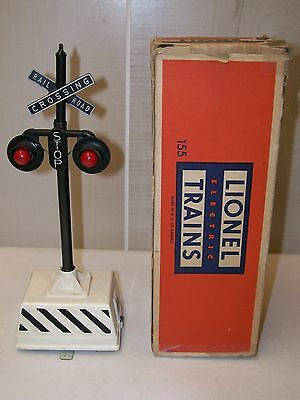Lionel Postwar 155 Ringing Highway Signal w/Original Box ~ Works Great ~ EX+
