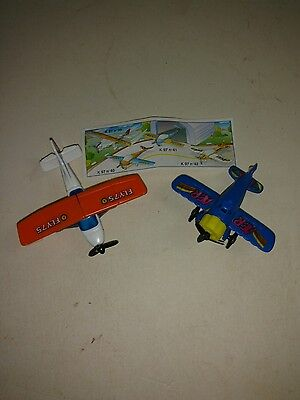 Vintage Kinder Ferrero Surprise Egg Toys (2) – Airplanes, Rare