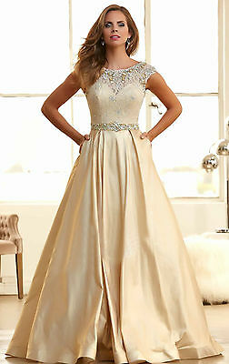 Long Noble Bridesmaid Dresses Wedding Formal Party Prom Dress Evening Ball Gown