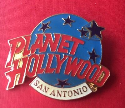Classic World Globe San Antonio Texas Planet Hollywood PH Logo Lapel pin 1.5""
