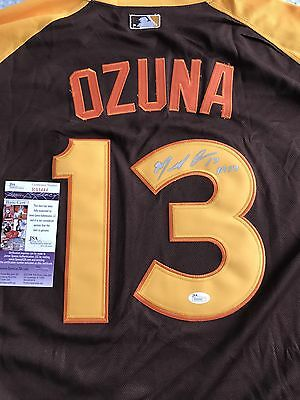 Marcell Ozuna Signed Asg Jersey Nwt Jsa Certified Autograph Marlins Auto