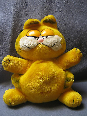 "1981 Dakin 12"" Garfield Plush Stuffed Animal Hand Puppet"