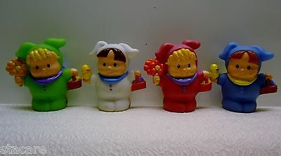 4 Fisher Price Little People EASTER SPRING BUNNY RABBITS
