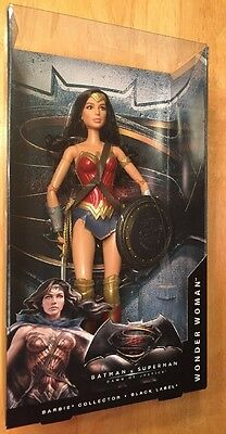 Wonder Woman Doll Batman V Superman:  Dawn Of Justice Barbie Black Label Mattel