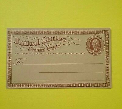 USA 1870's 1 cent postal card - Unused with advertising