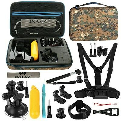 PULUZ 20 in 1 Accessories Combo Kit EVA Case for GoPro HERO5 Session 4 3+ SJCAM