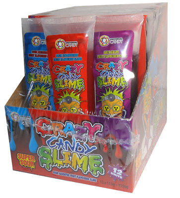 Crazy Candy Slime (12 x 113g  tubes in a display) - 3 flavours