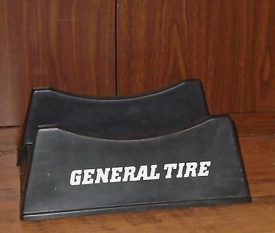 VINTAGE 1970-80's GENERAL TIRE 2-PC ADJUSTABLE PLASTIC TIRE STAND SIGN
