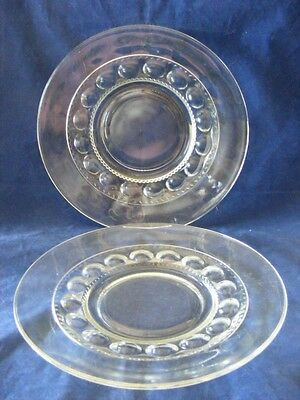"""4 Kings Crown  8 1/8"""" Clear Plates Great Condition"""