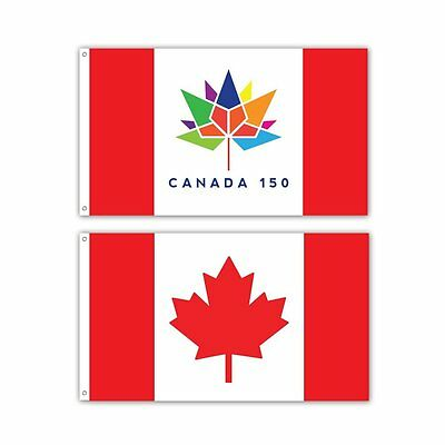 2 Pack -- Canada 150 Flag -- 3 x 5 ft Commemorative Canada Flag