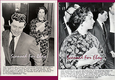 Elizabeth Taylor photos 1958 first public appearance after affair date stamped